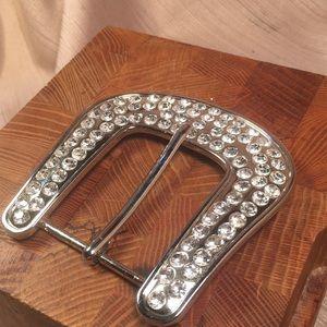 Gem encrusted belt buckle